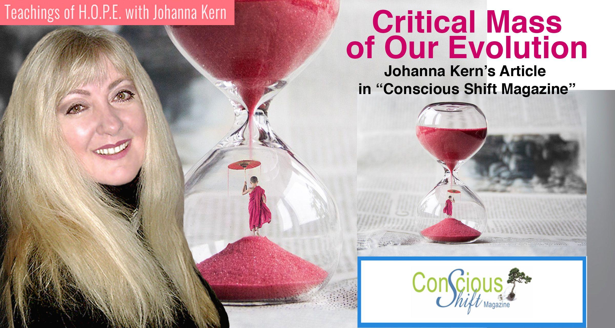 critical mass of our evolution - Johanna Kern